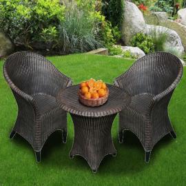 Набор мебели под ротанг Стол + два кресла ДУБ