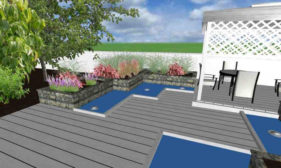 Патио на территории частного домовладения