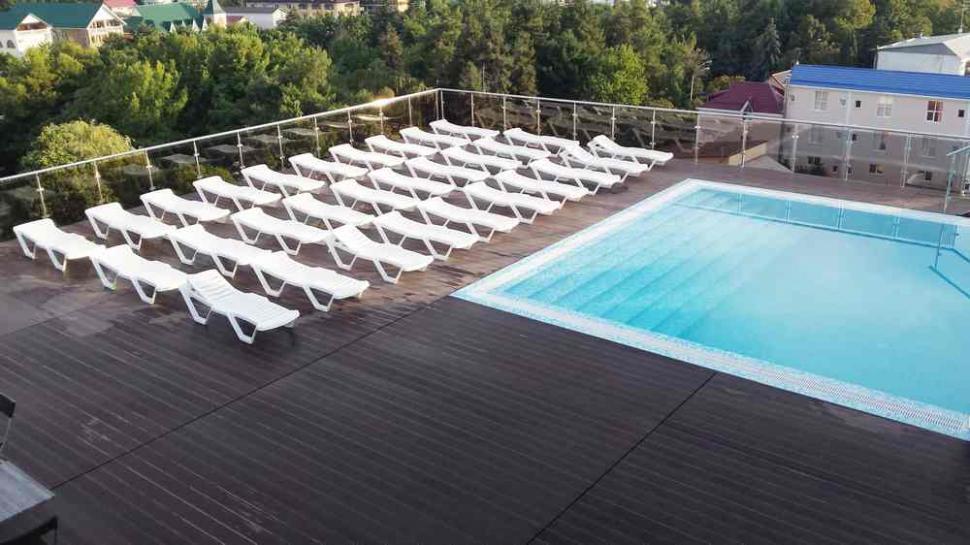 Терраса с бассейном на крыше